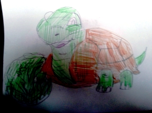 pencil colour turtle