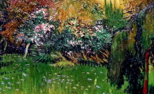 Detail from Public Park with Weeping Willow, Vincent Van Gogh